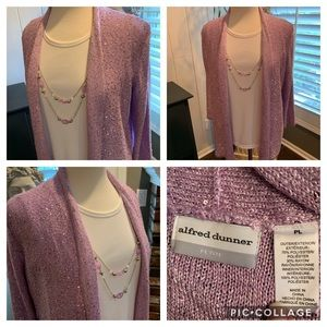 2 Peace glittery top by Alfred Dunner NWOT